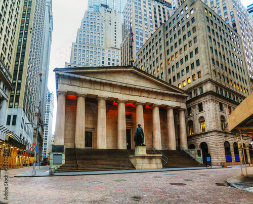 Federal Hall National Memorial on Wall Street in New York
