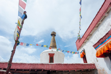 the stupa in Thiksey monastery, Ladakh, India