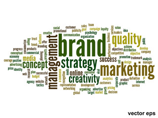 Vector conceptual business business word cloud