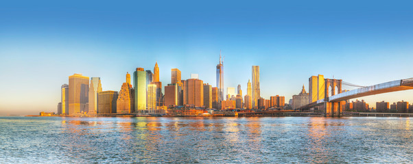 New York City panorama in the morning