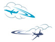 Airlanes in sky