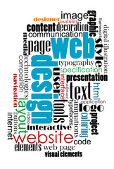 Tag cloud for web and internet design