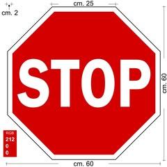 STOP CARTELLO SEGNALE OTTAGONALE