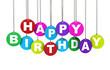 Happy Birthday Colorful Concept