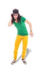 Female Hip Hop dancer - isolated
