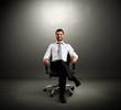 boss sitting on chair