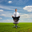 businessman is meditating