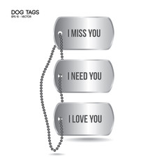 Dog tags with engraving