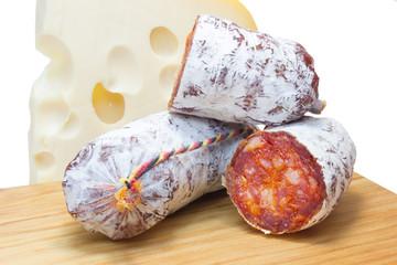 Chorizo y queso