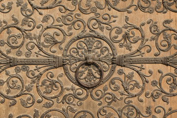 Notre Dame Cathedral Door - Paris France
