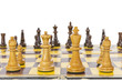 Vintage Chess Set Close Up