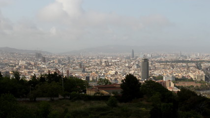Barcelona cityscape from Montjuic