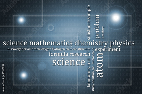 Abstract background science theme