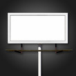 Blank Billboard Sign on Black Background