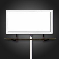 Blank Billboard Sign on Black Background