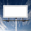 Blank Billboard Sign on Blue Sky Background
