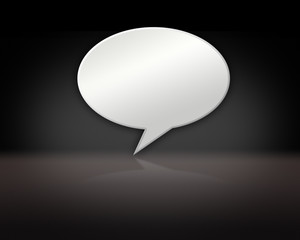 Chat Bubble on Dark Background Stage