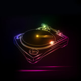 Dj neon disco house