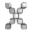 letter X cubic metal