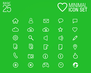 25 Minimal glyph icons