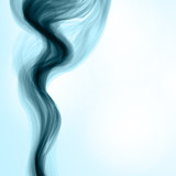 Blue smoke background. Abstract llustration