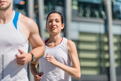 Competing - jogging in two