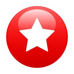 Bouton web favori star icon red