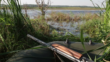 View of the lake during hunting