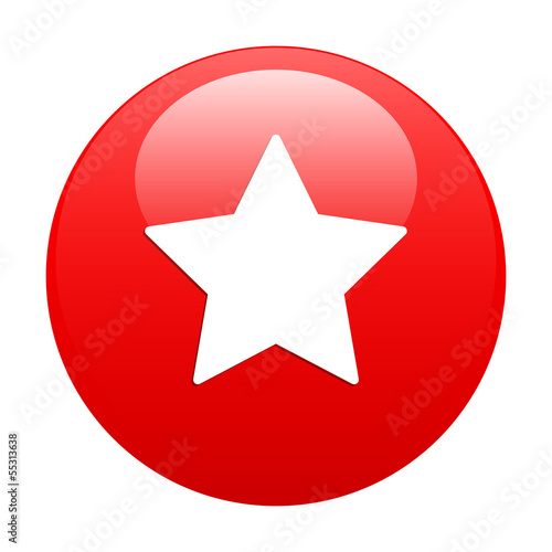 Bouton web favori star icon red