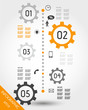 orange timelime with mobile icons