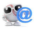 Baseball with email symbol