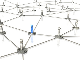 3D rendered image depicting the information network