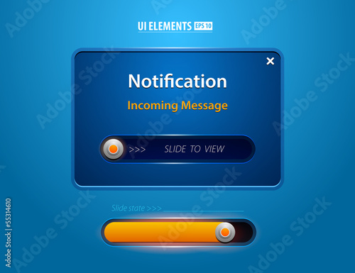 Notification Web UI incoming message slider