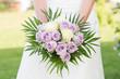 Bride Holding Rose Bouquet