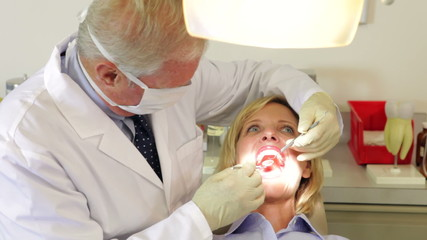 Woman Having Dental Check Up