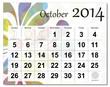 October 2014 calendar