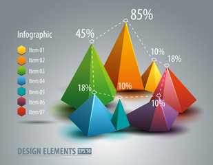 Infographic graph. Chart diagram