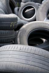 Destroyed old tires