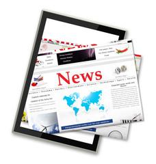 Digital news on tablet computer