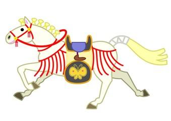 白い飾り馬