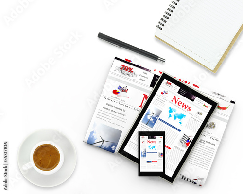 Digital news concept