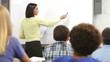 Teacher Asking Class Of Pupils Question