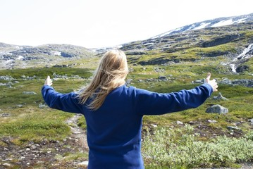 Woman Enjoying the Freedom in Nature