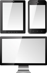 monitor and mobile screens