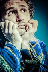 Blue prince, coronation concept, funny fantasy picture