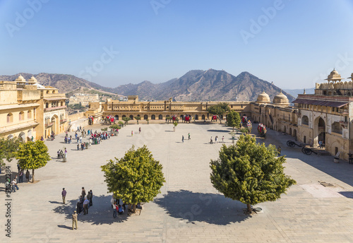 Amer fort, Jaleb Chowk, ( place for soldiers to assemble)
