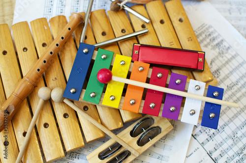 Leinwanddruck Bild Kids Instruments