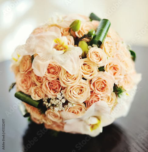bridal bouquet close up