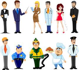 Герои мультфильмов менеджер, повар, врач и другие