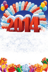 New Year 2014 decoration
